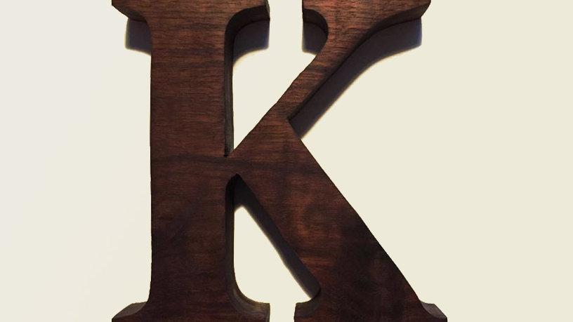Wooden Letter 'K'