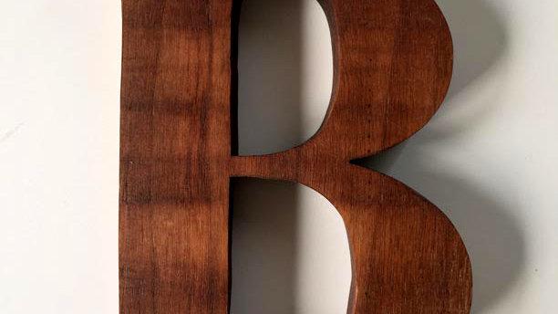 Wooden Letter 'B'