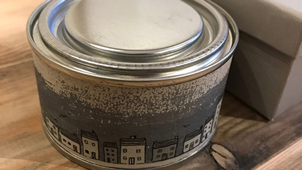Scented, Tined and Boxed candle (New Home)