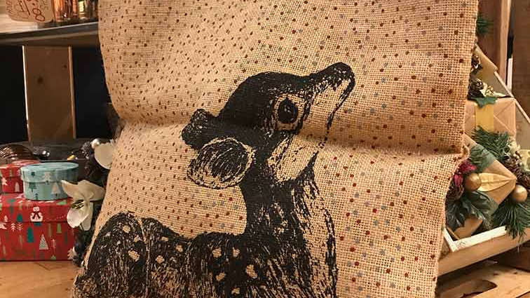 Large Jute Fawn Bag from 'East of India'