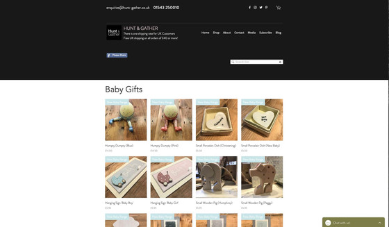 The Baby Gifts Page has expanded