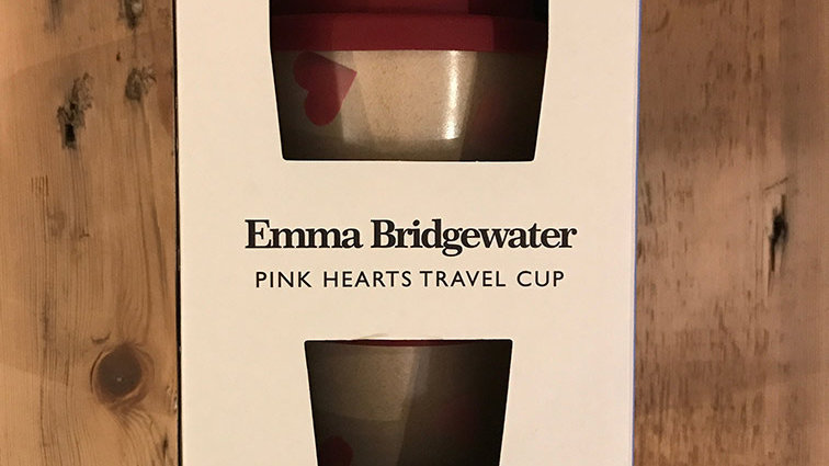 Pink Hearts Travel Cup
