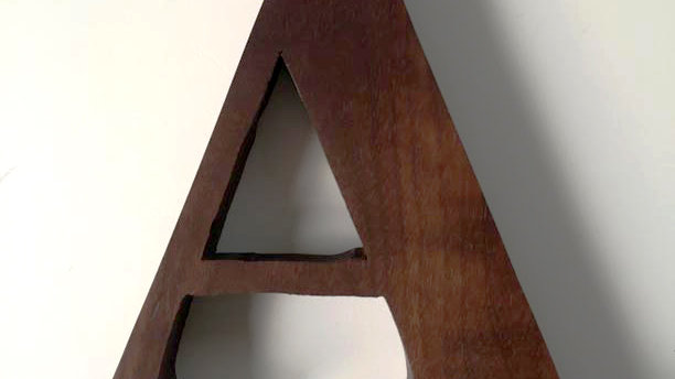 Wooden Letter 'A'