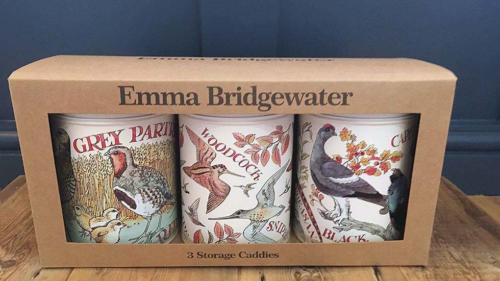 Emma Bridgewater - Game Birds Set 3 Caddies