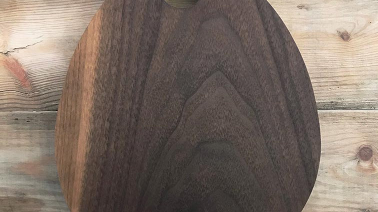 Handmade Solid Oak Teardrop Platter / Chopping Board (T003)
