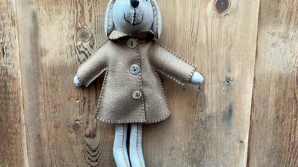Dog in Jacket 'hanging and felt' (Eric)