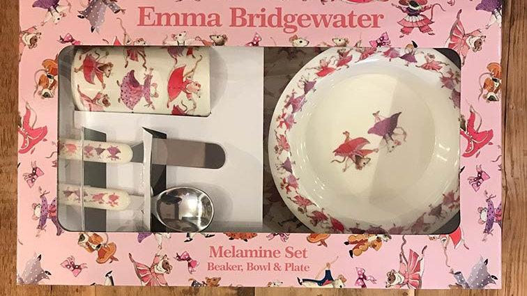 Emma Bridgewater Melamine Set ~ (Girls) Beaker, Bowl & Plate