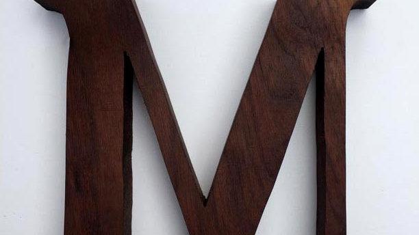 Wooden Letter 'M'