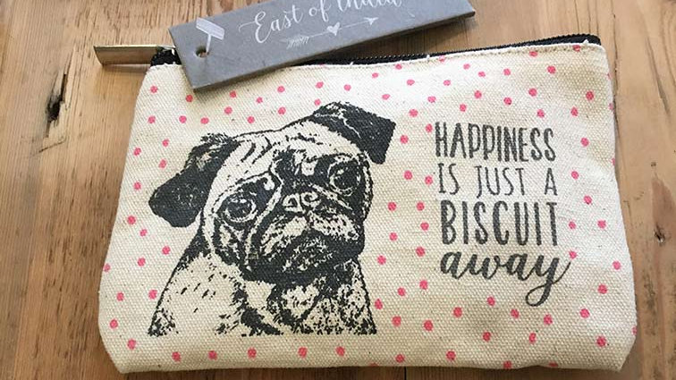 Happiness is just a Biscuit away (East of India Purse)