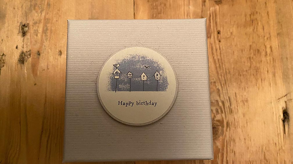 Scented, Tined and Boxed candle (Happy Birthday)