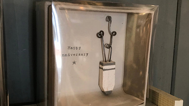 Boxed Gift Card 'Happy Anniversary' by 'East of India'