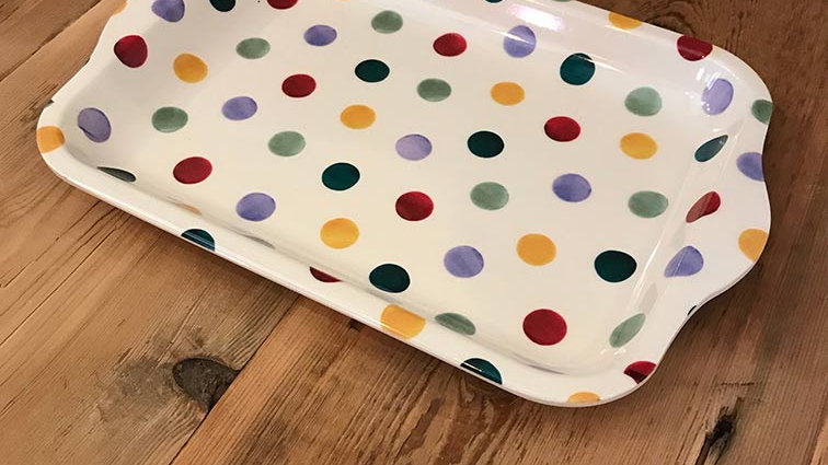 Small Melamine Tray (Polka Dot)