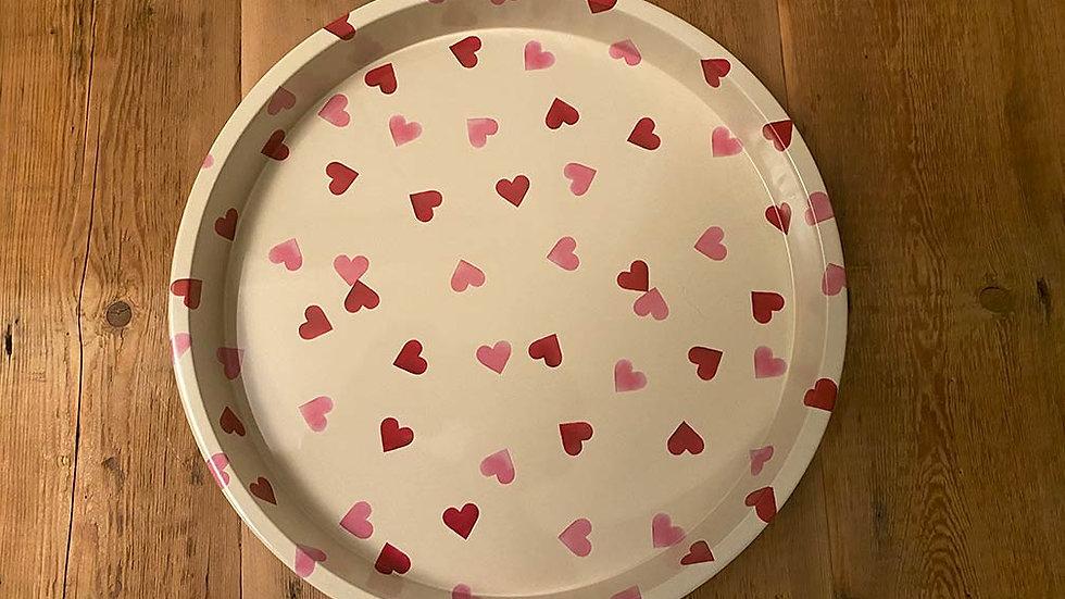 Emma Bridgewater Pink Hearts Tray (30cm diametre)