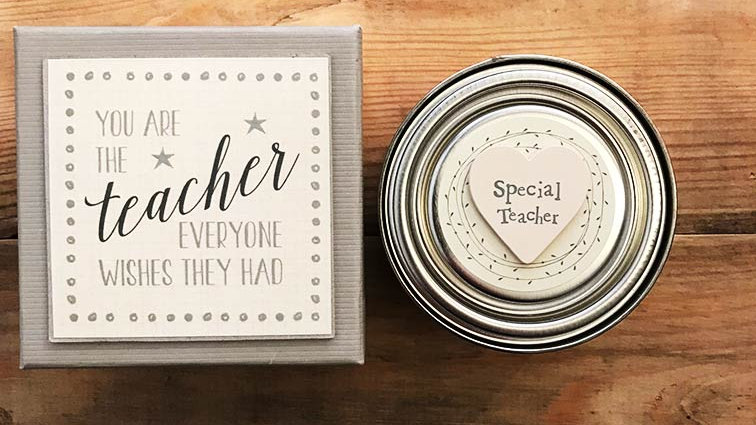 Boxed & Tinned and scented candle (You are the teacher...)