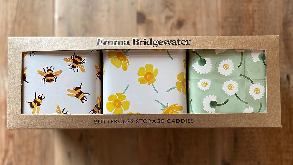 Emma Bridgewater - Buttercups Set 3 Caddies