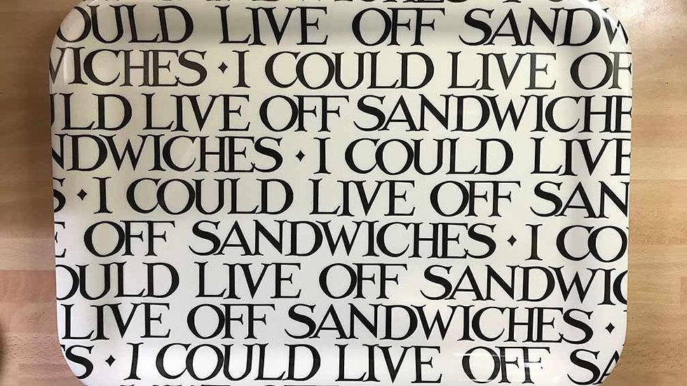 Emma Bridgewater - 'I could live off sandwiches' Medium Tray