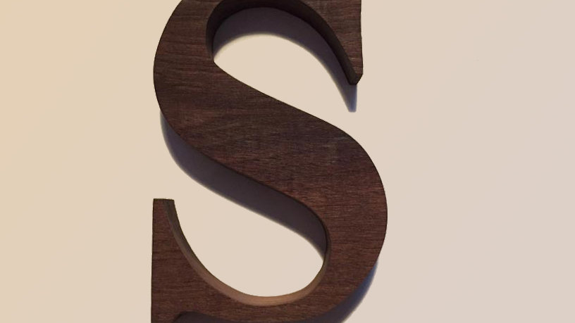 Wooden Letter 'S'