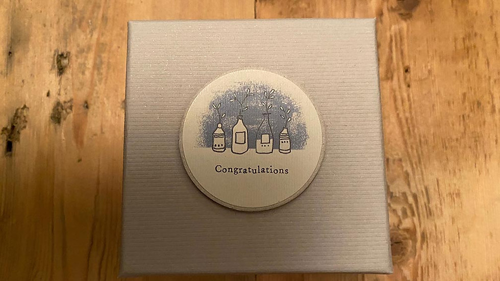 Scented, Tined and Boxed candle (Congratulations)