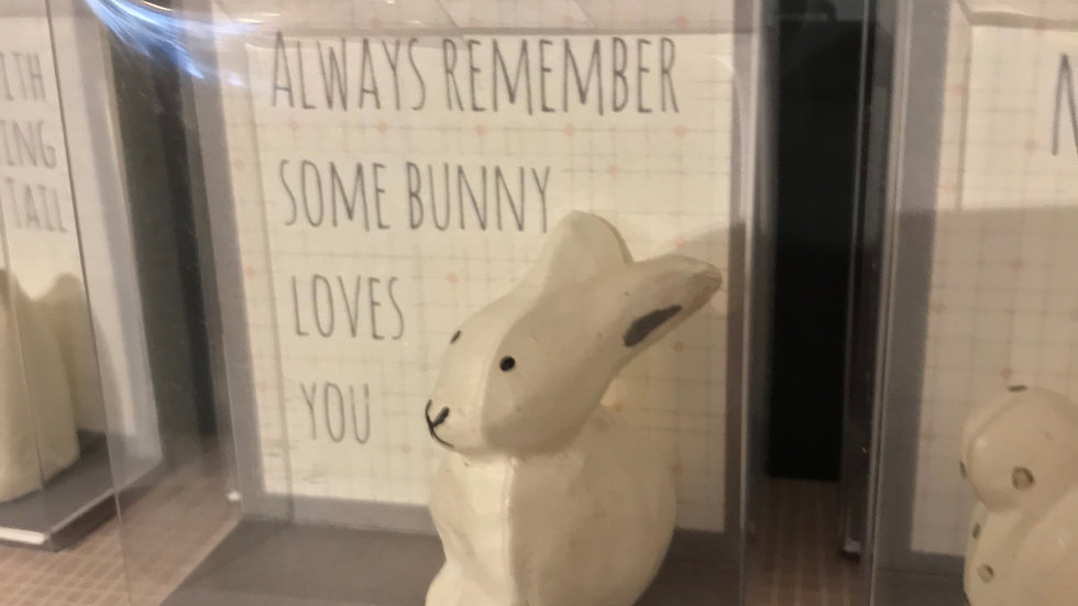 Wooden Animal (Always Remember Some Bunny Loves You) by 'East of India'