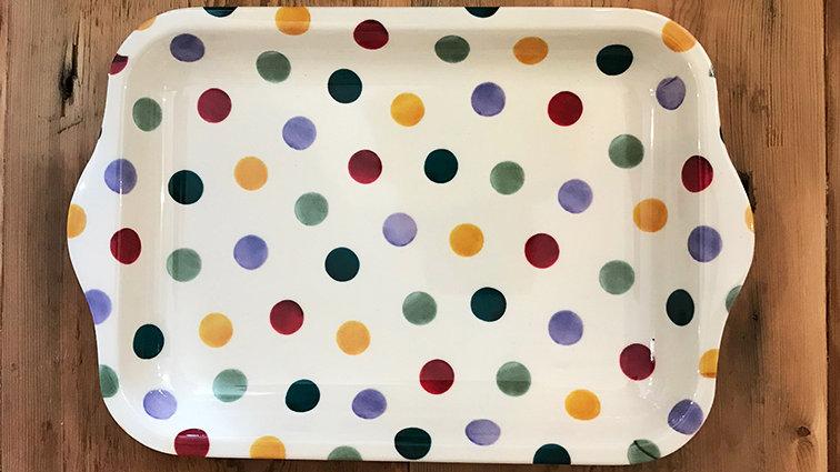 Small Melamine Tray (Polka Dot)
