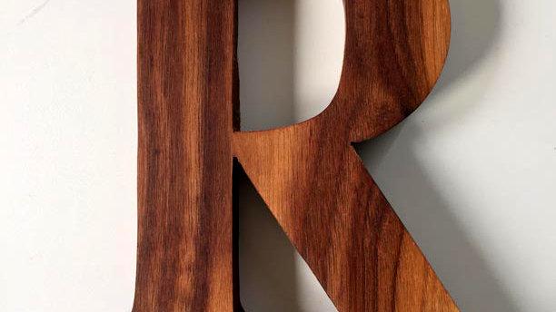 Wooden Letter 'R'