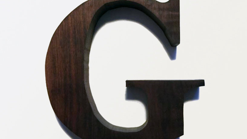 Wooden Letter 'G'