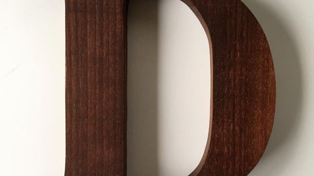 Wooden Letter 'D'
