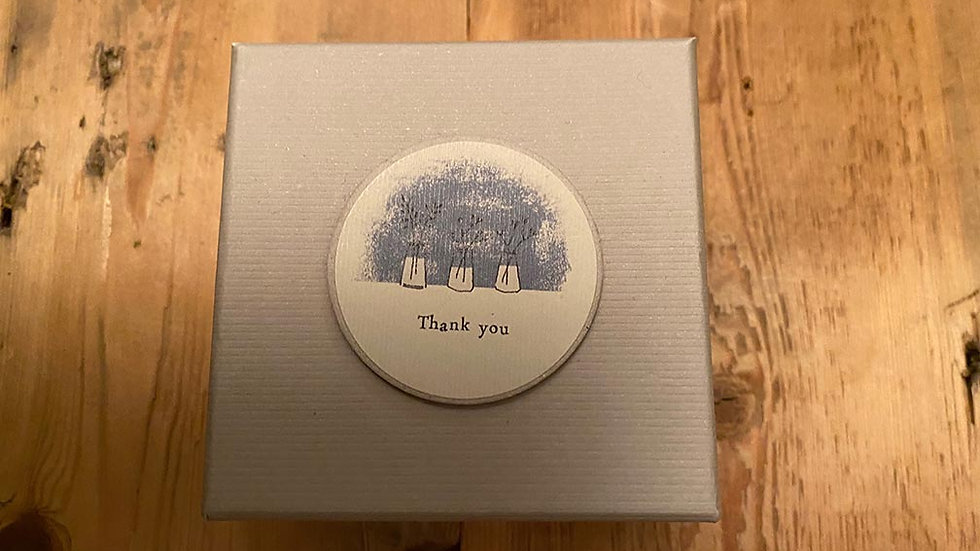 Scented, Tined and Boxed candle  (Thank you)