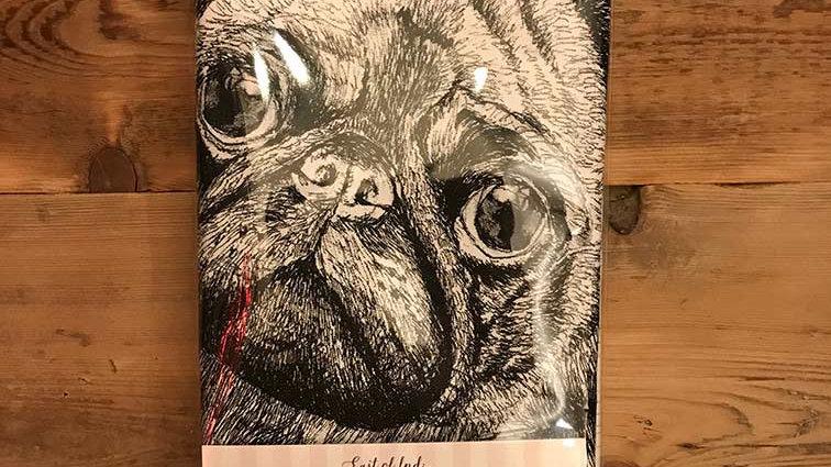 Love Pugs - Tea Towel (x1)