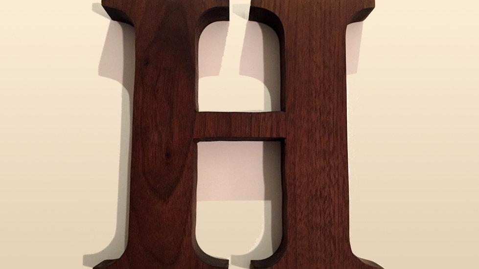 Wooden Letter 'H'