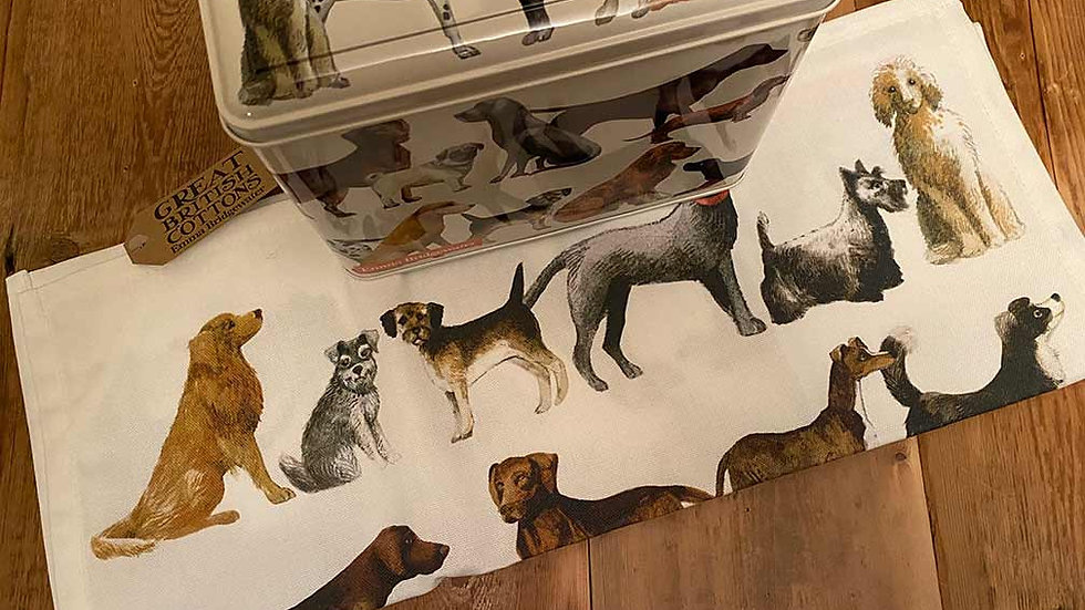 Emma Bridgewater Dog Tin & Tea Towel