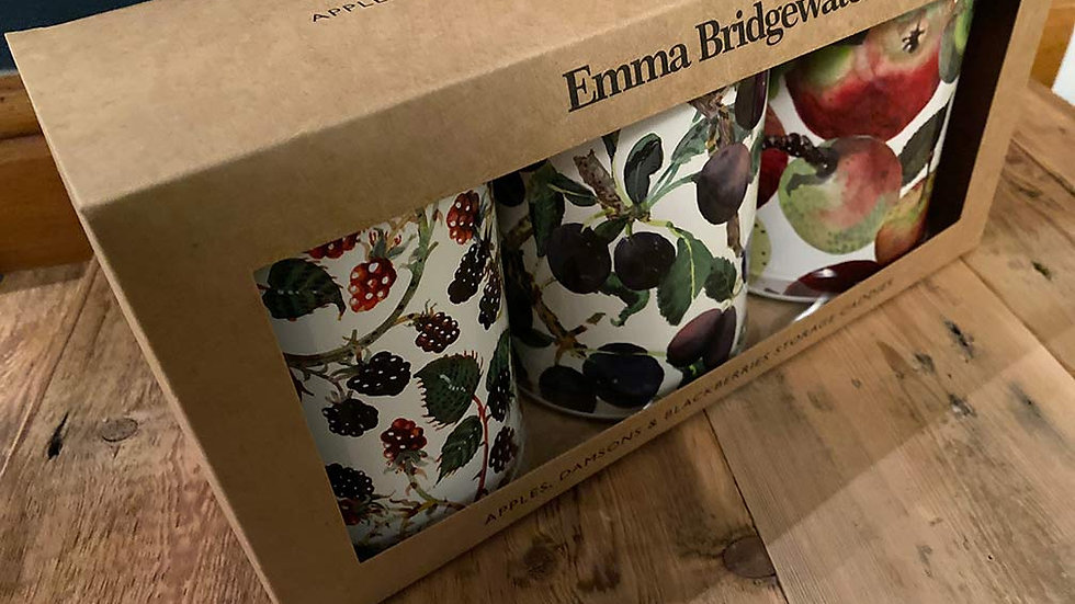 Emma Bridgewater - Set of 3 Apples, Damson & Blackberries Storage Caddies