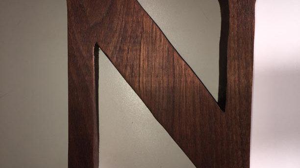 Wooden Letter 'N'