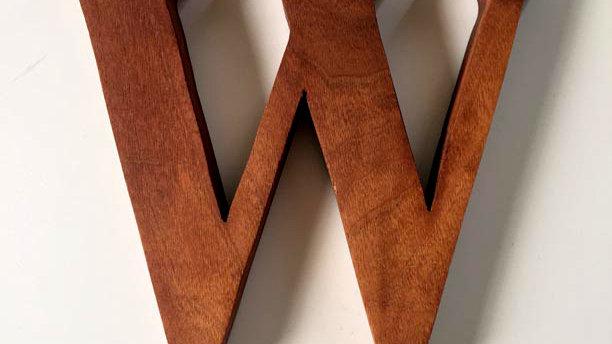 Wooden Letter 'W'