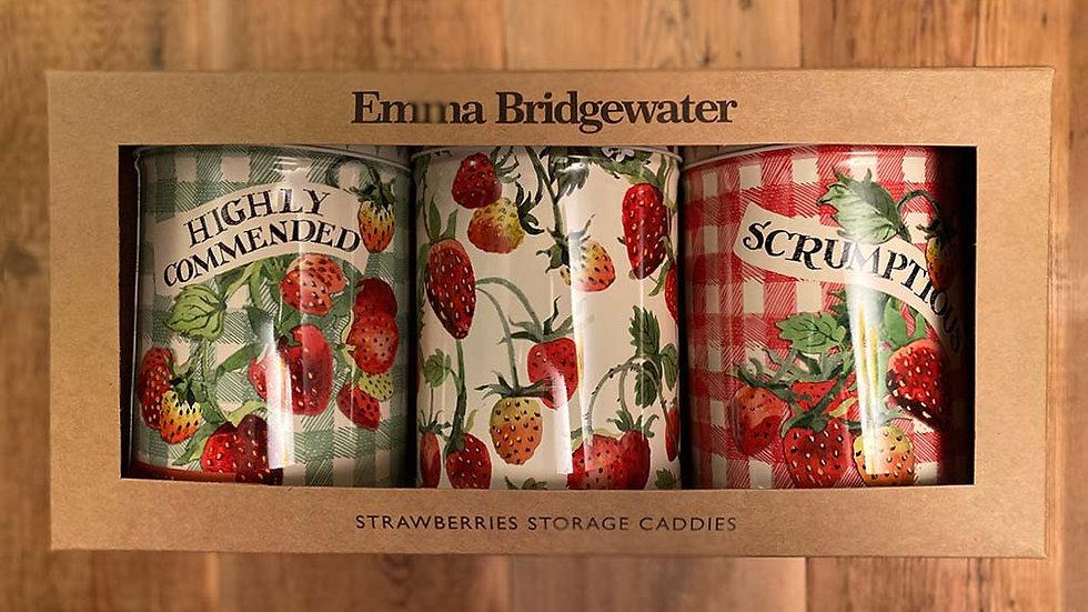 Emma Bridgewater - Set of 3 Strawberries Storage Caddies