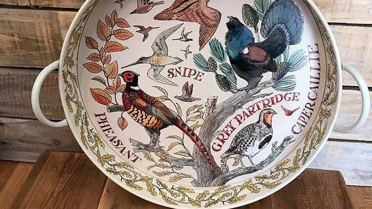 Emma Bridgewater - Pheasant Large Handle Tray