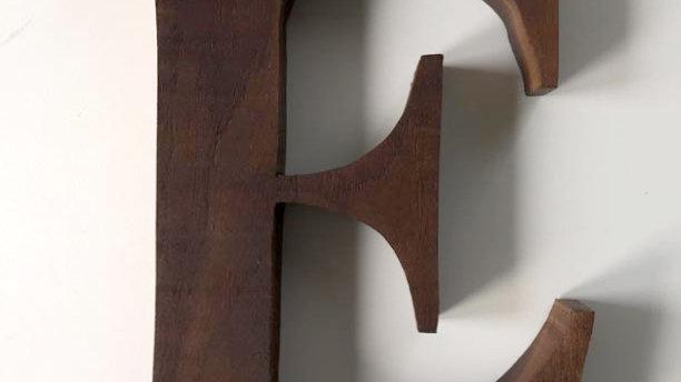 Wooden Letter 'E'