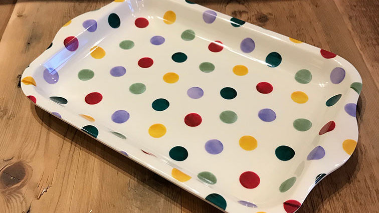 Polka Dot (Small Melamine Tray)