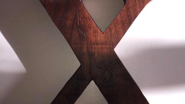Wooden Letter 'X'