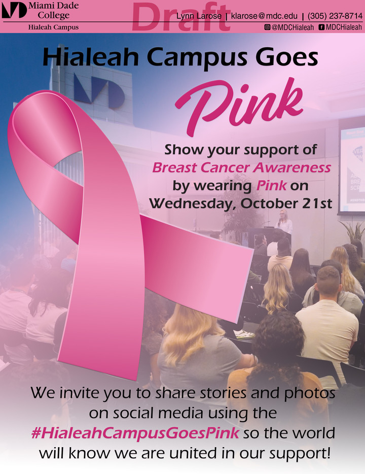 Hialeah campus goes pink 8.5x11 Flyer 20
