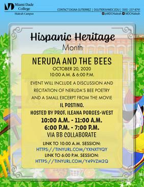 Hispanic Heritage Month Neruda and the B
