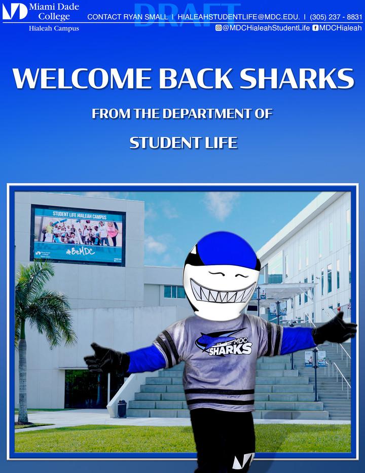 Welcome Back Sharks! - 8.5x11 flyer 2021