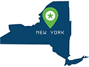 Silhouette Map of New York