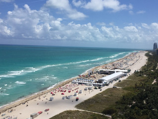 Show jumping on Miami Beach