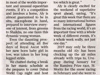 Gulf News article ahead of the Dubai World Cup