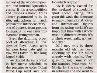Gulf News article ahead of the Dubai World Cup