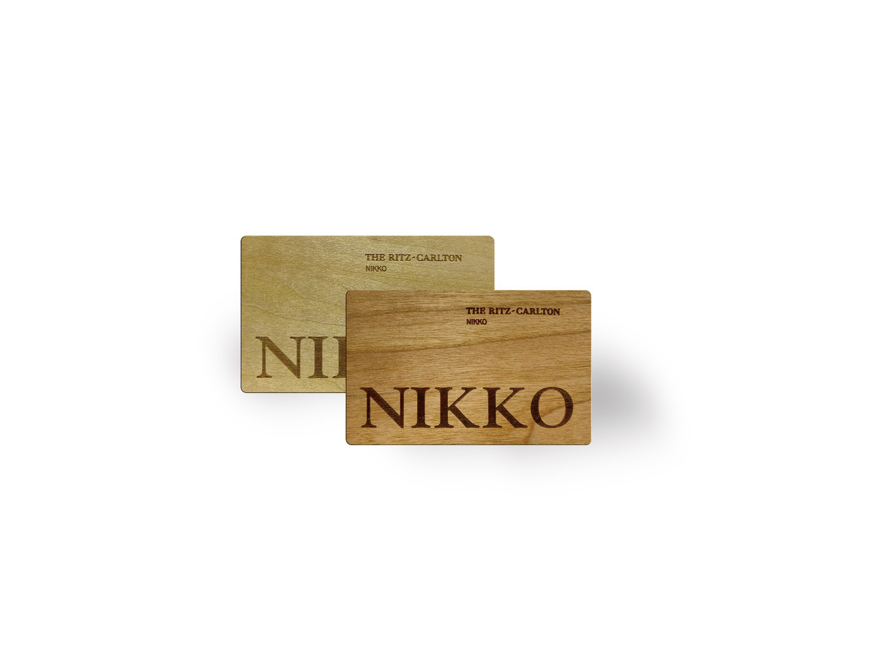 Engraved Wooden Card