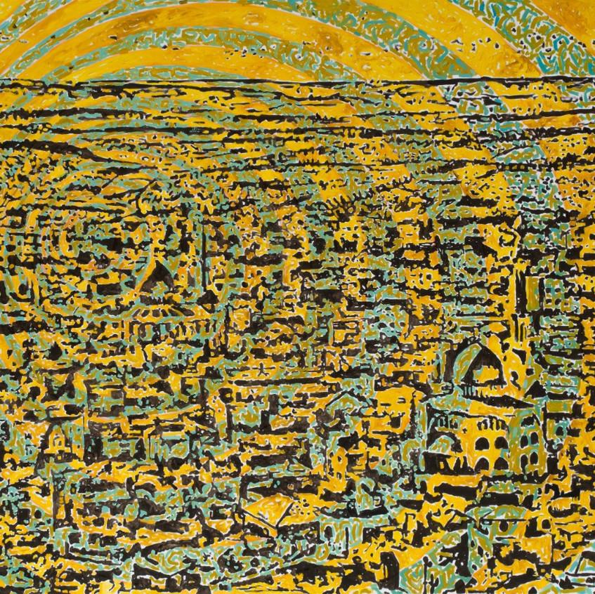 Fouad Agbaria, Untitled, 2018, oil on canvas, 120x170 cm