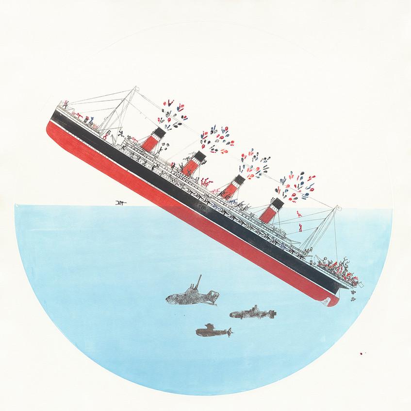 דובי הראל, מסדרים את הכסאות על סיפון הטי