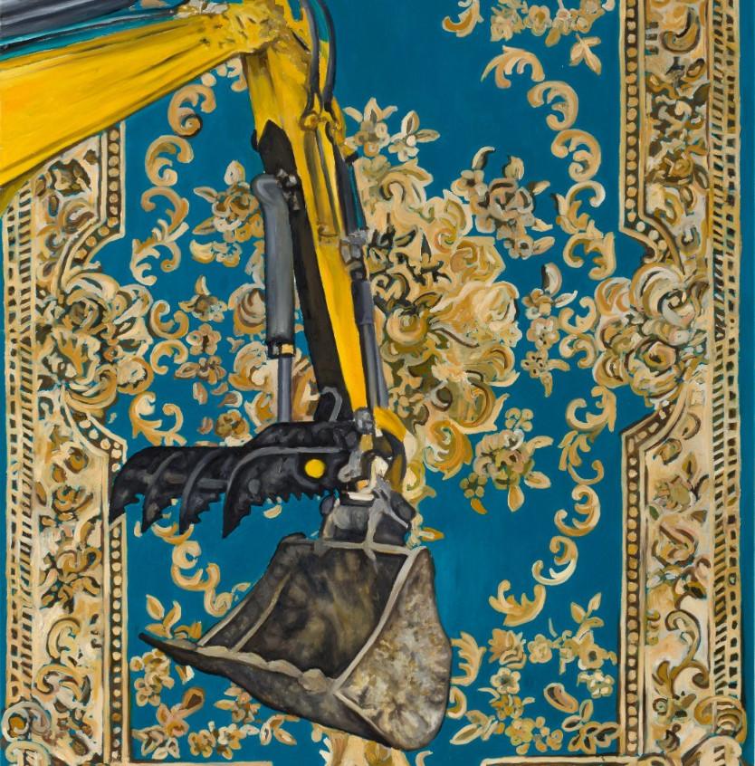 Fouad Agbaria, Untitled, 2018, oil on canvas, 140x100 cm